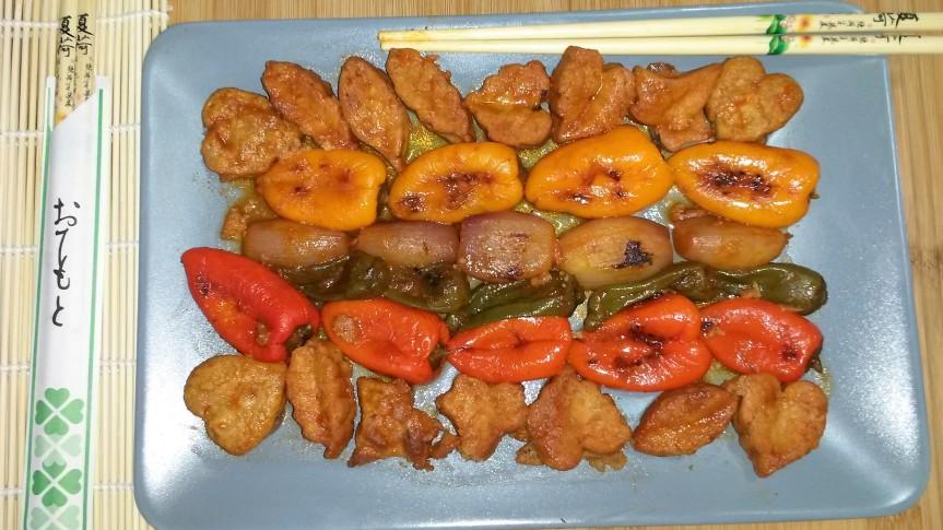 Pollo Agridulce estilo chino LIGHT, sin azúcar, sin harina y singrasas
