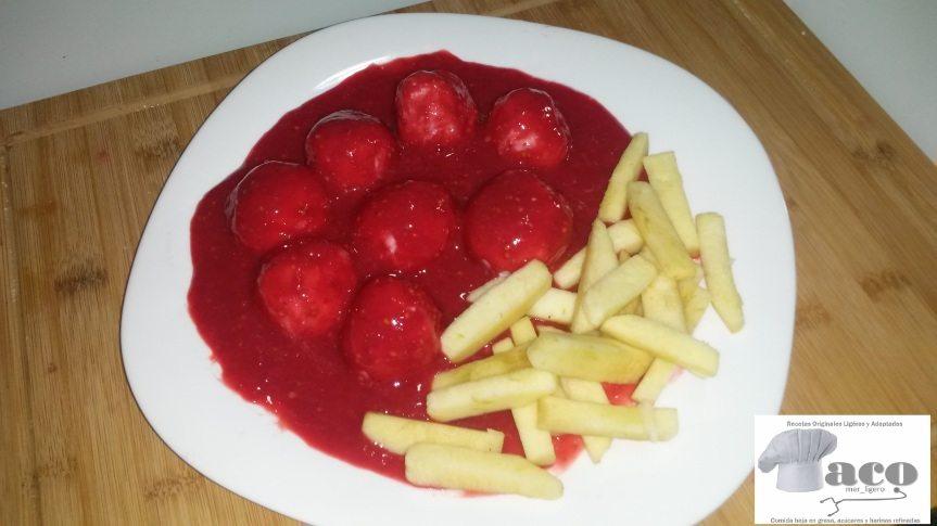 Trampantojo de Abondigas con Tomate: Postre dulceLight